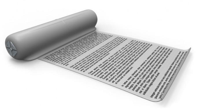 텔아비브대 연구진은 신문처럼 돌돌 말리는 디스플레이를 제작했다. - Fortolia 제공